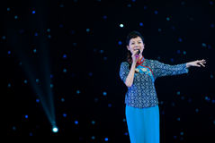 Pour chanter des chansons folkloriques Photo libre de droits