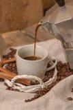 Pour coffee Stock Photo