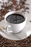 Pour a cup of coffee Royalty Free Stock Photos