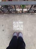 Pour des puissances de superhéros Photographie stock libre de droits