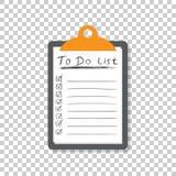 Pour faire l'icône de liste avec le texte tiré par la main Liste de contrôle, vecto de liste des tâches Photos stock