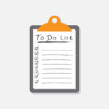 Pour faire l'icône de liste avec le texte tiré par la main Liste de contrôle, vecto de liste des tâches Photo libre de droits