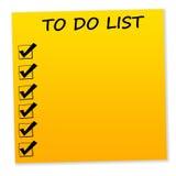 Pour faire la liste Image stock