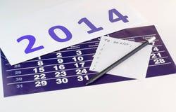 Pour faire la liste pour 2014 Image libre de droits