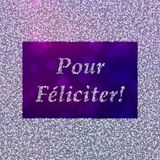 Pour Feliciter - New Year`s Greetings in French Royalty Free Stock Image