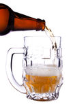 Pour a glass of beer Stock Photos