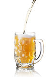 Pour glass of beer Royalty Free Stock Photography