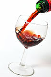 Pour a glass of cognac Stock Image