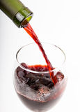 Pour a glass of wine Stock Image