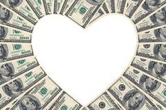 Pour l'amour de l'argent Image libre de droits