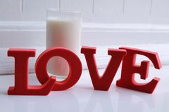 Pour l'amour du lait Photo stock
