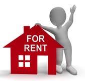 Pour la maison à louer montre la propriété de location ou de bail Image libre de droits