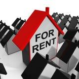 Pour la maison à louer signifie le crédit-bail aux locataires Photographie stock libre de droits