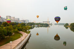 5ème Fiesta chaude internationale 2013 de ballon à air de Putrajaya Photo stock