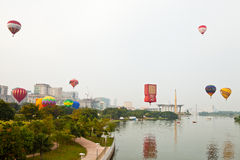5ème Fiesta chaude internationale 2013 de ballon à air de Putrajaya Images stock