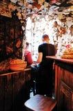 Pour le bar de vente, Budapest, HONGRIE image libre de droits