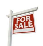 Pour le signe d'immeubles de vente d'isolement Image libre de droits