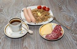 Pour les produits délicieux d'un petit déjeuner Image libre de droits