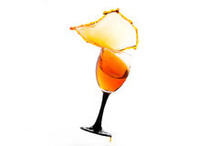 Pour. Liquor, a splash in the glass Stock Photography