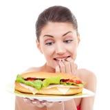 Pour manger ou ne pas manger Images libres de droits
