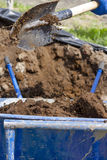 Pour manure Royalty Free Stock Photography