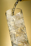 Pour me a gin and tonic. Alcohol being poured into a tall glass with ice,gin and water over ice Stock Photography