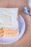 Pour the milk toast Royalty Free Stock Photo