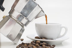 Pour out the coffee Royalty Free Stock Images