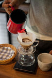 Pour Over Coffee Drip Brewing royalty free stock photos