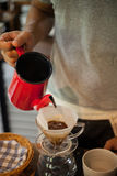 Pour Over Coffee Drip Brewing Royalty Free Stock Image
