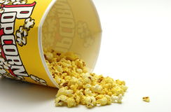 Pour the popcorn Royalty Free Stock Photo