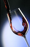 Pour red wine Stock Photography