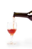 Pour red wine Royalty Free Stock Photography