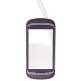 Pour remplir, pleuvoir à torrents, le téléphone de lait Photos libres de droits