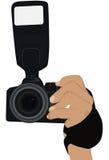 Pour retenir l'appareil-photo illustration libre de droits