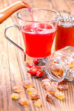 Pour rose hip tea Stock Photo