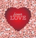 Pour toujours carte de voeux de lettrage d'amour Image stock