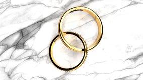 Pour toujours ensemble anneaux de mariage, symbole de l'amour, honnêteté et relations éternelles illustration libre de droits
