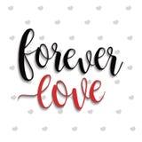 Pour toujours lettrage d'amour Photo libre de droits