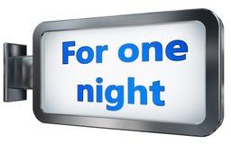 Pour une nuit sur le fond de panneau d'affichage illustration de vecteur