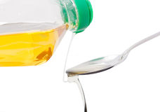Pour vegetable oil Stock Photography