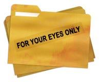 Pour votre dossier de yeux seulement Image libre de droits