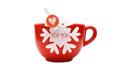 Pour vous tasse de Noël Photo stock