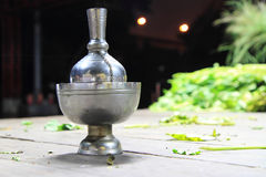 Pour water for merit. In Thai temple Stock Images