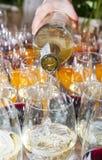 Pour wine Stock Photos