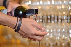 Pour wine Stock Photo