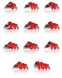 Pourcentage d'escompte Photographie stock libre de droits
