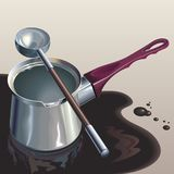 Poured coffee Royalty Free Stock Images