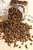 Poured coffee beans Royalty Free Stock Photos