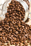 Poured coffee beans Royalty Free Stock Image